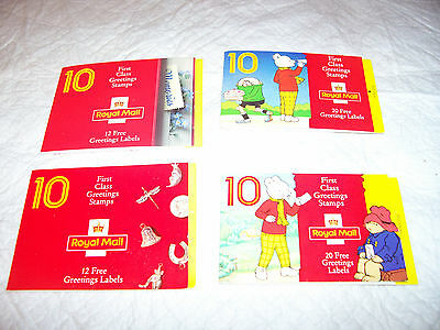 Lot Of 4 Royal Mail  Mint Stamp Booklets  Free Uk Post