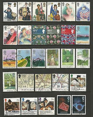 GB QEII Portrait Commemoratives Collection 28 Stamps Good to Fine Used