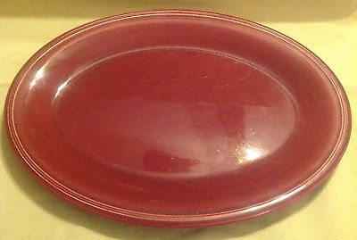 Vintage EDWIN KNOWLES China Oval Serving Platter Semi Vitreous Made in USA