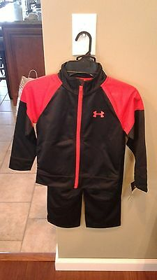 Nwt Under Armour  Boys 2 Pc Outfit Jacket & Pants Size 4  Msrp $39.99