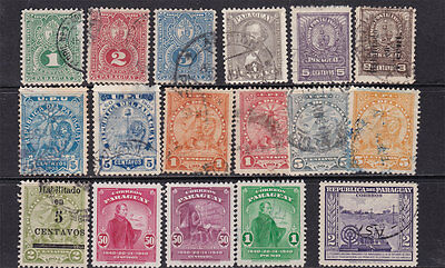 PARAGUAY ^^^^1887,,....mint & used  CLASSICS + others  hcv @ f5200para