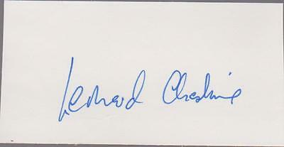 + Group Captain LEONARD CHESHIRE - Great Wartime RAF Pilot signed white piece