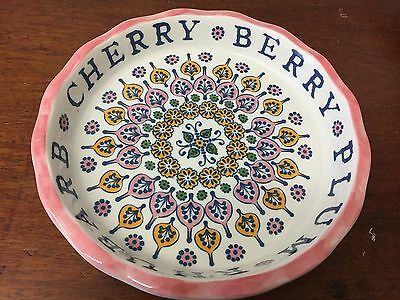 "Anthropology pottery 10"" pie dish"
