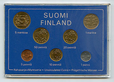 Finland 1977 Official Coin Mint Set KMS UNC Nice Condition !!!