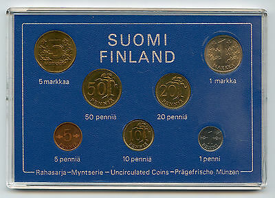 Finland 1976 Official Coin Mint Set KMS UNC High Condition !!!