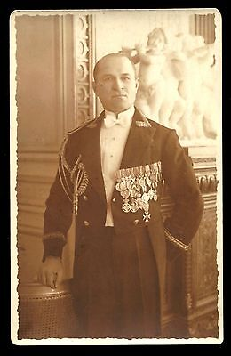 Romania 1930's Royal Household with medals Czech Serbia Bulgaria Greece photo