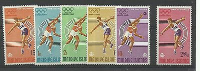 MALDIVE IS 1968 Mexico Olympics set, SG 262-67, unmounted mint