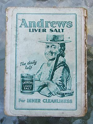 Andrews Liver Salt 1900s playing cards