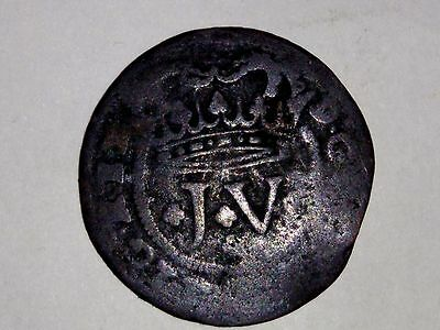 Old Portuguese Coin 3 Reis c1712 - 21
