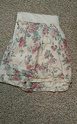 JCPenney Elizabeth Gray Lace Roses Victoria Croscill QUEEN Bed Skirt