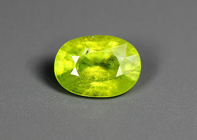 1.28 Cts_Simmering Ultra Nice Color Gemstone_100 % Natural Green Sphene