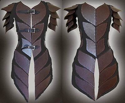 leather medieval suit theatrical celtic Armor LARP SCA viking ninja armour