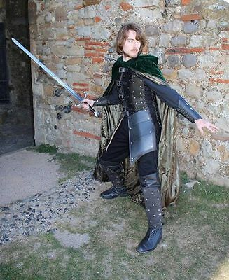 Leather Robin hood armor medieval theatrical Celtic LARP SCA Armour Halloween