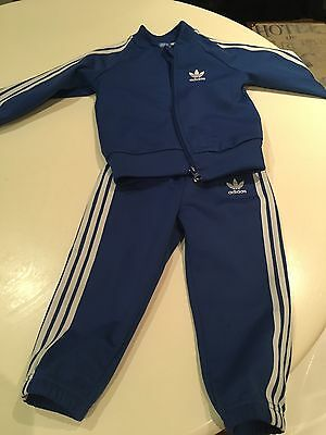 Blue Addidas Toddler's Tracksuit 18-24 Months
