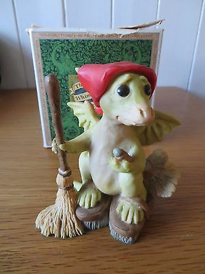 Rare Large 1989 Pocket Dragon Figure Titled Do I Have To By Real Musgrave Lllll