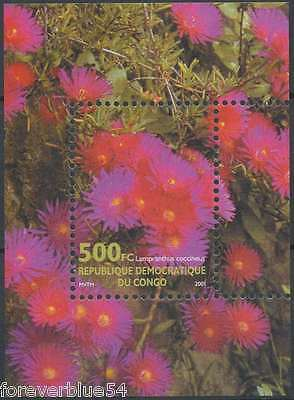 Congo (Zaire) 2001 Sc 1630 MNH - Flowers Lampranthus sheet - combined postage
