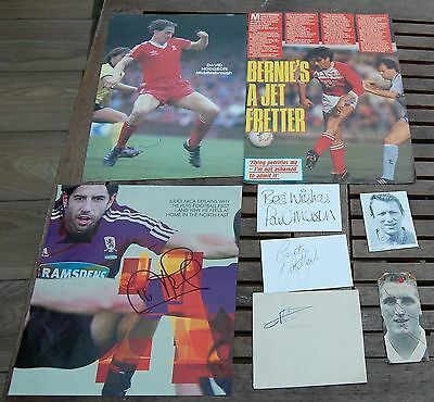 8 x Middlesbrough Hand Signed Autographs Ugolini Day Gibson Slaven Merson Arca