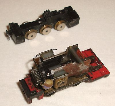 009 Jouef narrow gauge loco chassis and Atlas chassis