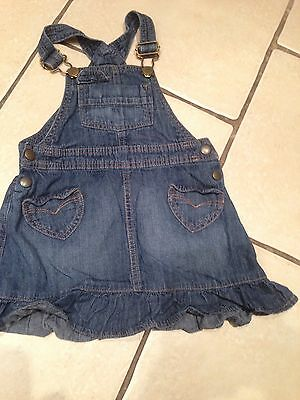 GIRLS DENIM PINAFORE DRESS AGE 2-3 yrs