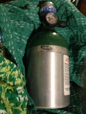 Invacare Homefill Bottle Tank Cylinder  with Oxygen Conserving Regulator used
