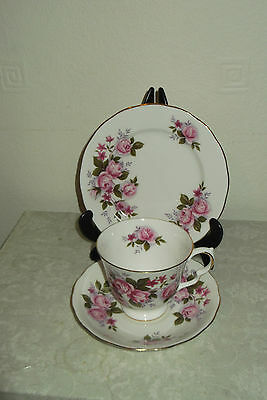 Vintage Shabby Chic Queen Anne 8351 China Trio Cup Saucer & Plate Wedding Table