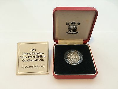 1993 Piedfort One Pound Silver Proof