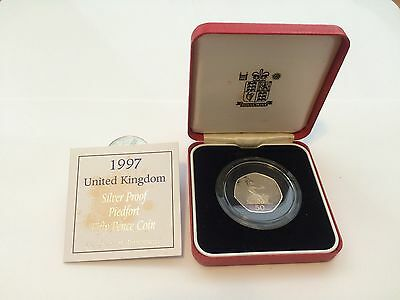 1997 Piedfort 50p Silver Proof