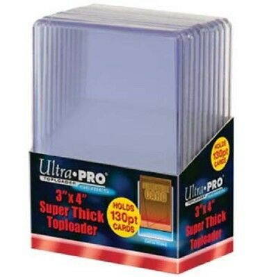 100 Ultra Pro 130pt 3x4 Super Thick Toploaders toploader New top loaders Jersey
