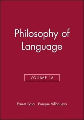 Philosophy of Language by Ernest Sosa Paperback Book (English)