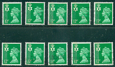 Great Britain N. Ireland Sg-Ni35, Scott # Nimh-18 Used, 10 Stamps, Great Price!