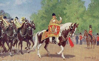The Band of the Royal Horse Guards...Artist signed Conrad Leigh