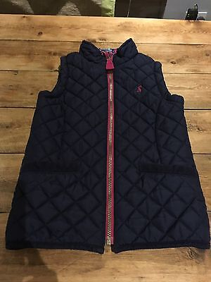 Joules Kids Gilet, Navy Age 7, Excellent Condition - Girls