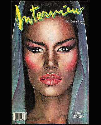 Andy Warhol's Interview Magazine Oct.1984 Grace Jones COVER ART Replica 16 x 20""