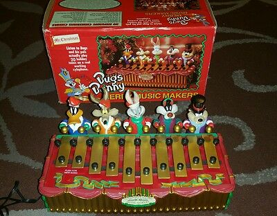 Vintage Bugs Bunny Mr Christmas Xylophone Merry Music Maker Looney Tunes Musical