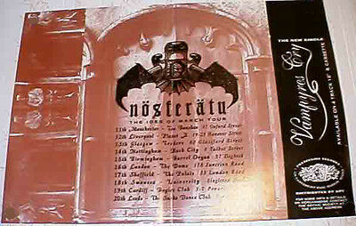 NOSFERATU-Ides of March 1992 UK Tour Poster-A3 Size Litho print Gothic