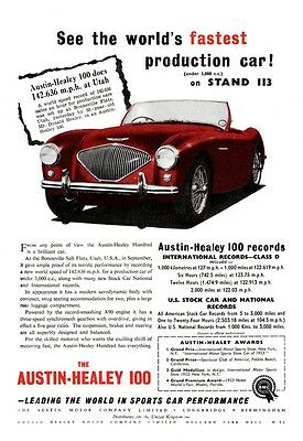 1953 Austin Healey 100 advert poster / print
