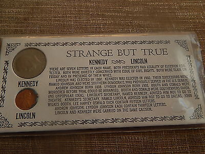 Strange But True Lincoln & Kennedy  Uncanny Coincidences Coin Set