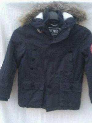 Demo Boys Navy Soft Touch Padded Parka Coat Age 7 - 8 Years