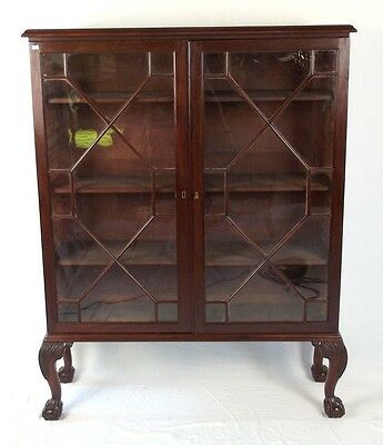 antique Georgian Astragal Glazed bookcase CAN DELIVER