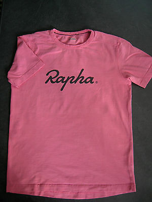 Rapha Logo T pink, first edition, size M