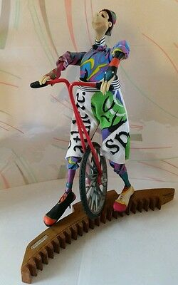 Cirque Su Soleil Bendable Posable Figure With Cycle - Rare