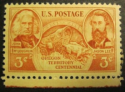 1948 Us Stamp Oregon Territory Centennial 3 Cent Commemorative Stamp Mnh