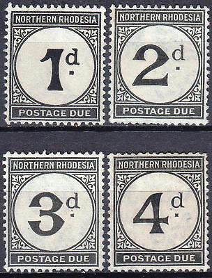 Northern Rhodesia 1929 Postage Dues, SG D1 - D4, Mint Never Hinged, Cat £20
