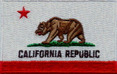 """US State of California Flag Embroidered Patches 3.5""""x2.25"""""""