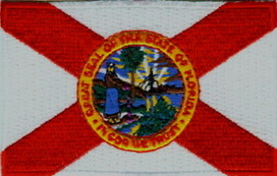 "US State of Florida Flag Embroidered Patches 3.5""x2.25"""