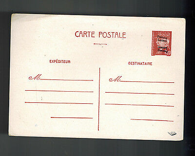 1940s France cover Overprinted Postal Stationery Postcard Festung Lorient