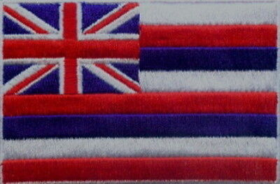 "US State of Hawaii Flag Embroidered Patches 3.5""x2.25"""