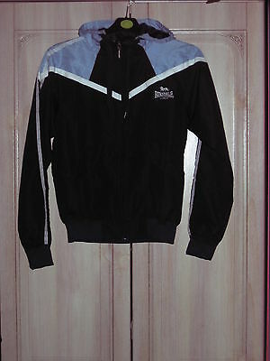girls brand new lonsdale water proof hooded jacket ( size 8)