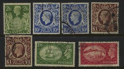 GB GVI High Values Selection to £1 (2) Used  CV £65.50