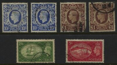 GB GVI High Values Used Selection to £1 (2) CV £64